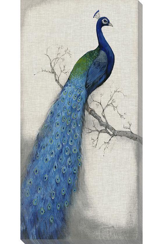 Blue peacock wall art beautiful pinterest for Peacock wall art