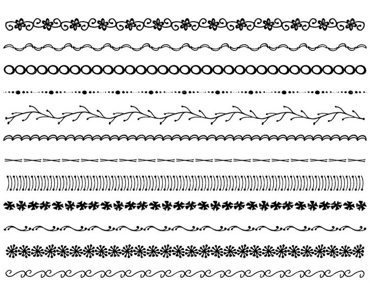 Easy to Draw Border Designs | Easy Borders To Hand Draw Hand drawn ...