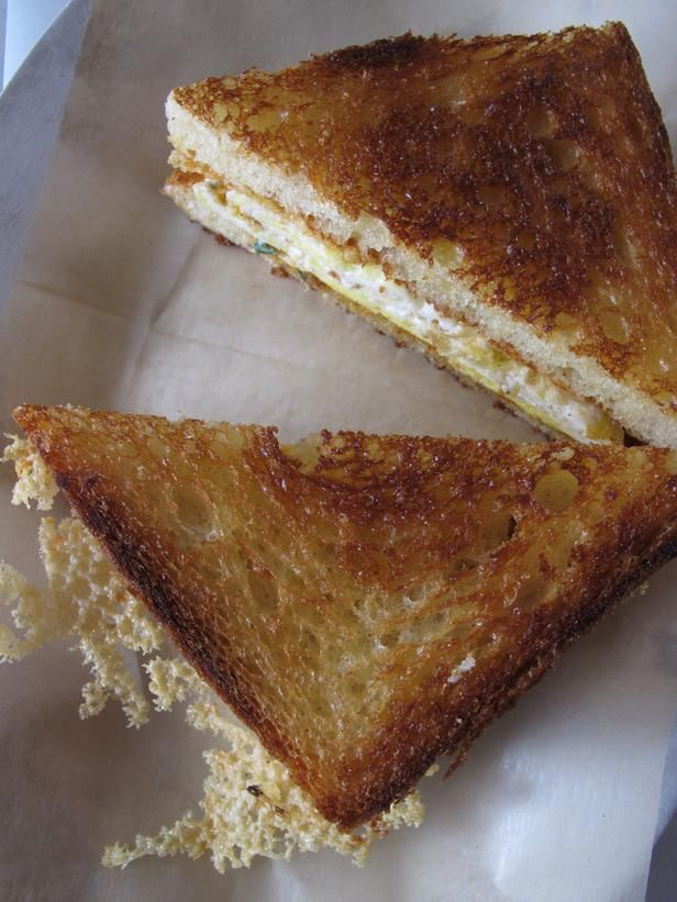 Breakfast Egg and Grilled Cheese Recipe : : Recipes : Cooking Channel