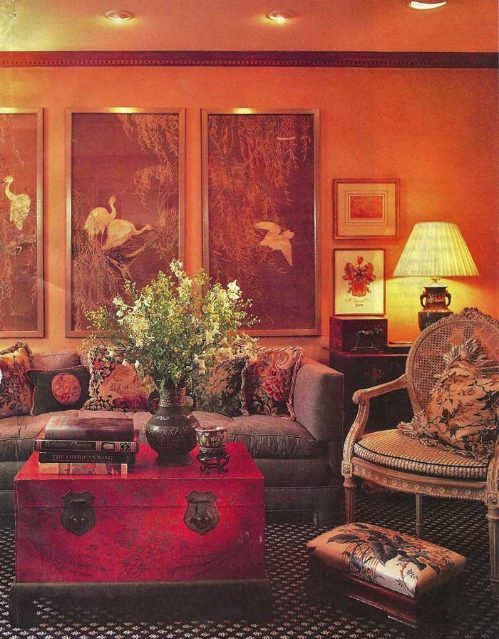 Orange and brown living room architecture and design pinterest