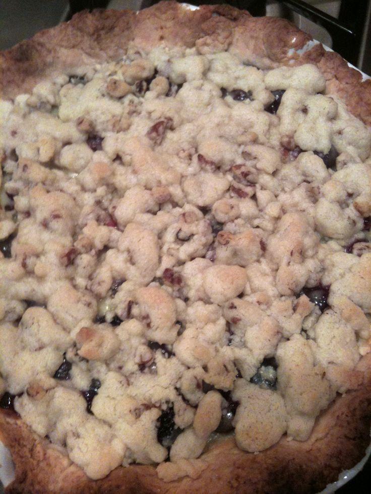 """Blueberry sour cream pie. A recent winner in the """"Tastiest Pie ..."""