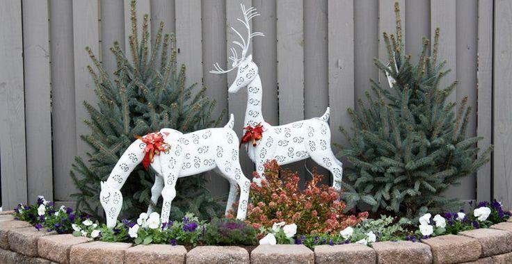 christmas outdoor statuary winter home decor ideas