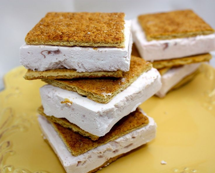 Cherry Greek Yogurt Ice Cream Sandwiches. Dip in chocolate for an ...