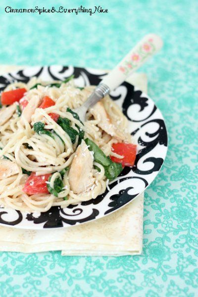 Grilled Chicken Florentine Spaghetti by Cinnamon Spice and Everything ...