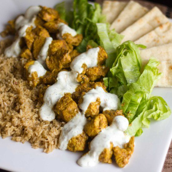 healthy take on the famous Halal cart style chicken and rice sold on ...