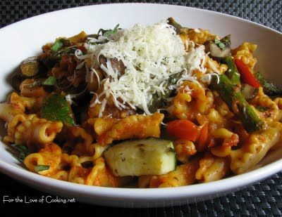 ... the Love of Cooking » Campanelle with Roasted Vegetables and Marinara