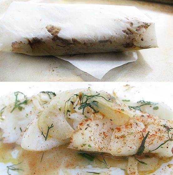 Parchment Paper Fish - En papillote | Low {Lower} Carb | Pinterest