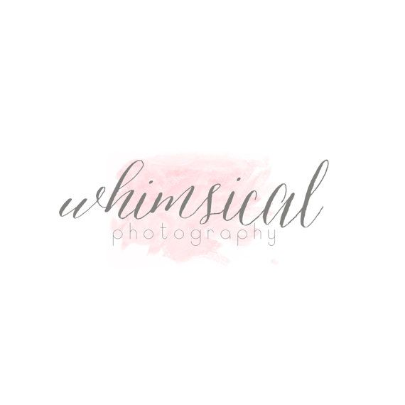 Watercolor calligraphy logo and watermark Calligraphy logo