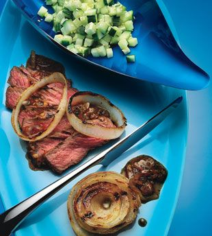 Grass-Fed Strip Steak with Spicy Hoisin Sauce and Cucumber Relish | R ...