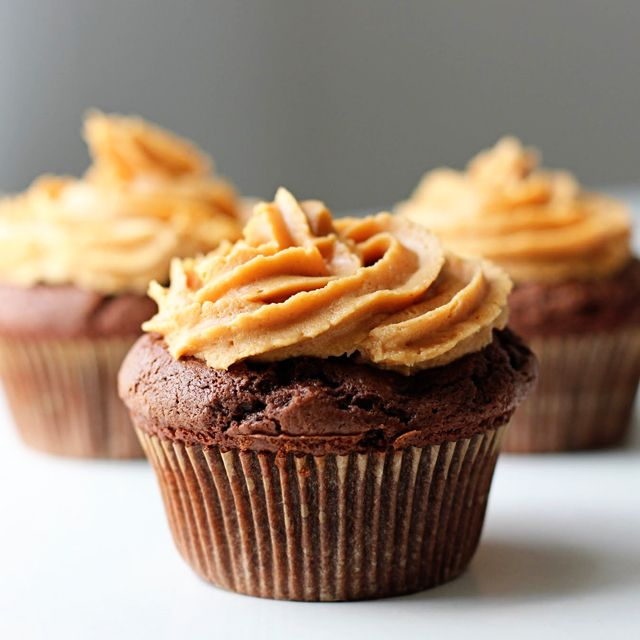 Peanut Butter-Filled Chocolate Cupcakes | snacks ...