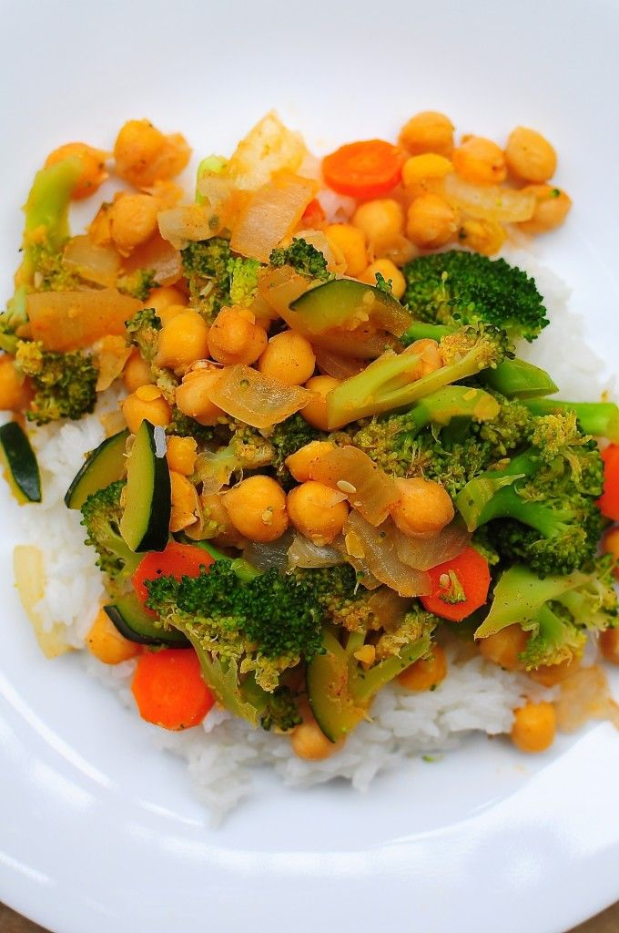 Garbanzo Bean Vegetable Stir Fry | Healthy and Happy foods: meals | P ...