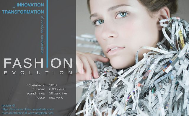 """Fashion Evolution: Consumer Power"" event (Nov 7th NYC) 