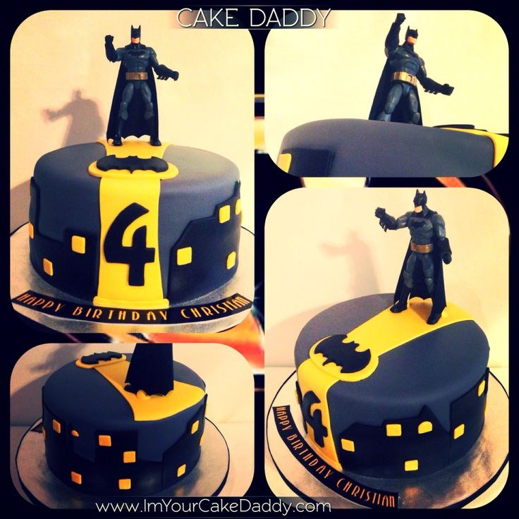 Batman themed birthday cake.  Custom Cakes by Cake Daddy  Pinterest