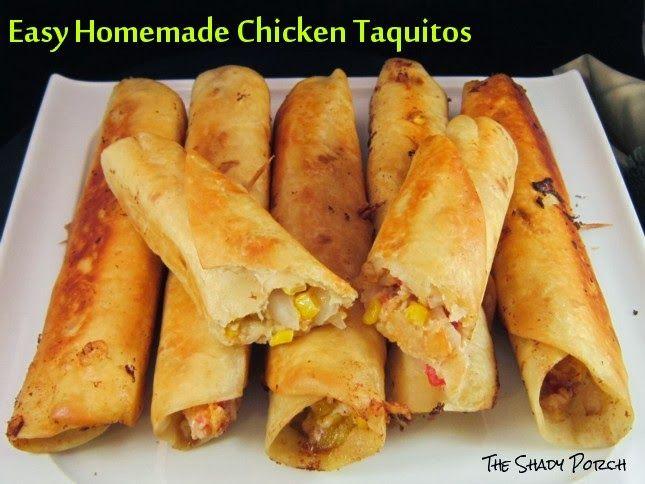 Easy Homemade Chicken Taquitos | Yummy Eats | Pinterest