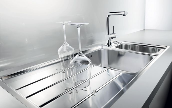 Modern stainless steel kitchen sink design my kitchen Pinterest