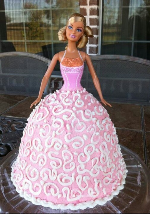 Cake Decorating Pampered Chef : Pin by Dixie Catzle on Barbie Doll cake ideas Pinterest