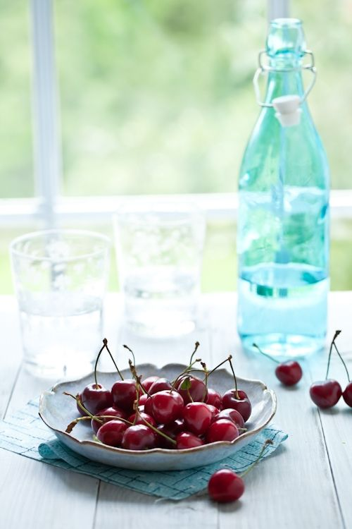 cherry, rose and coconut ice cream
