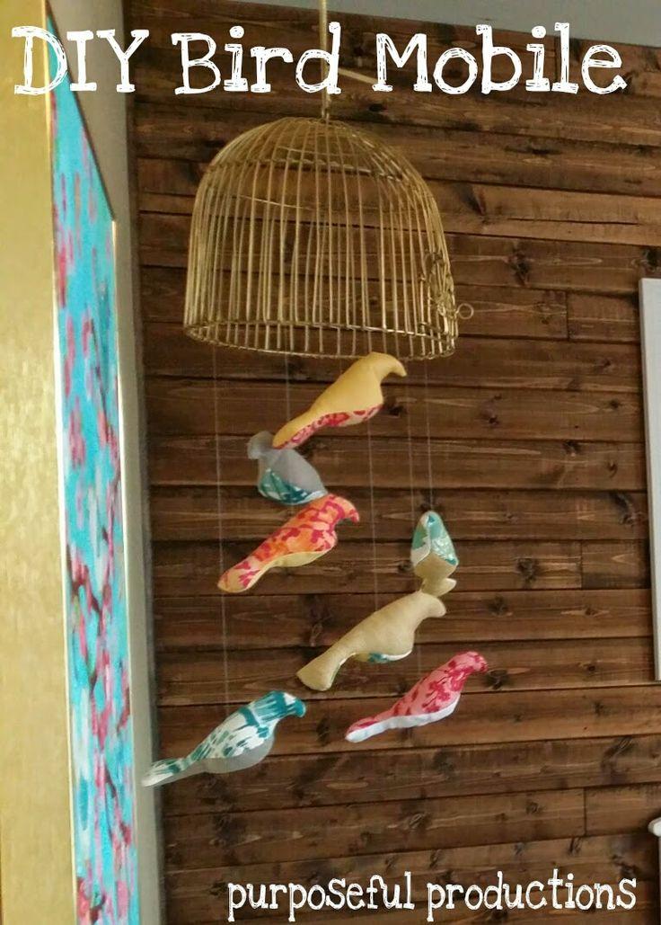 Gold teal nursery : Diy bird mobile for $33 #diy #bird #mobile #nursery #pink #gold #teal