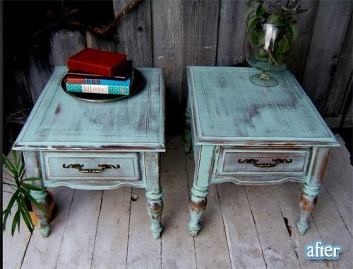 painted end tables.