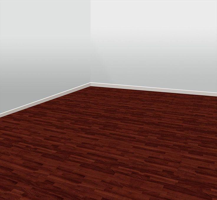 BuildDirect Rubber Flooring WoodGrain Foam Rubber Tiles Nutmeg Red