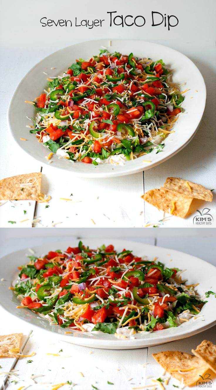 Seven Layer Taco Dip | Appetizers/Snacks | Pinterest
