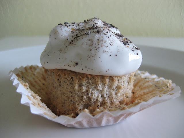 cappuccino angel food cupcakes | my treats @ serves two | Pinterest