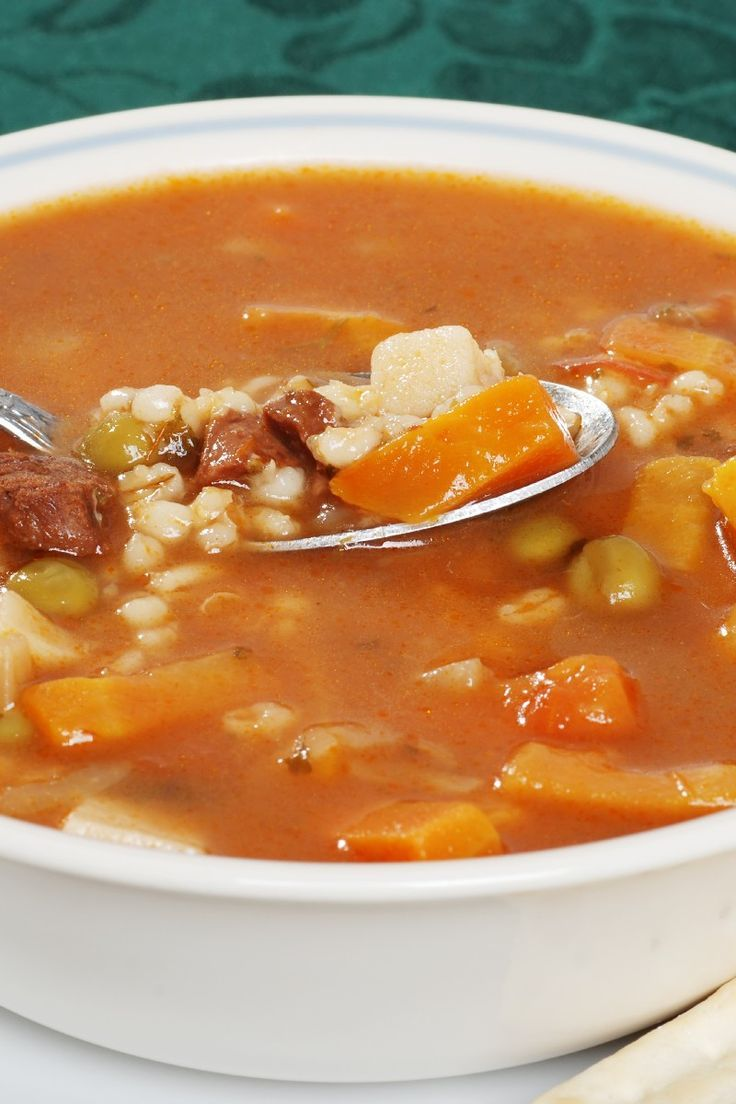 Beef-Barley Soup Recipe. | soups | Pinterest