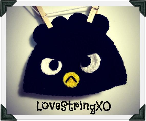 Crochet Badtz Maru Beanie /  Hello Kitty Friends / Photo Props / Child hat / Etsy Baby / Crochet Bebe / Handmade gift ideas. $25.00, via Etsy.