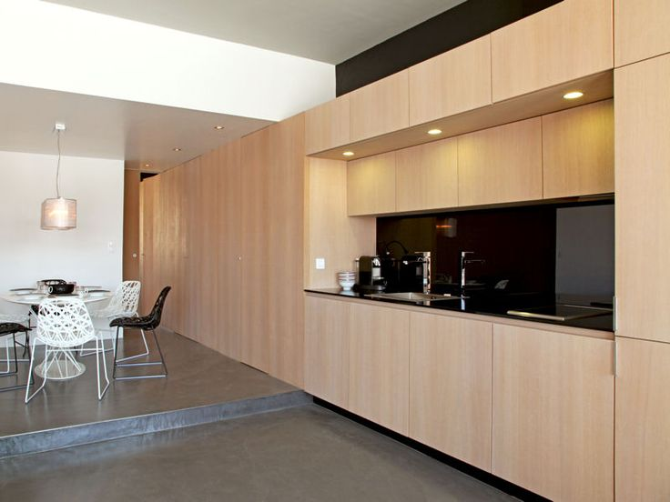 Armoire Chambre Bois Blanc : cuisine bois moderne  Home sweet home  Pinterest