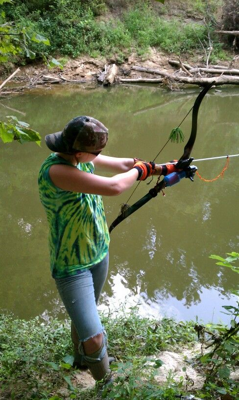 Me and my bowfishing gear archery pinterest for Bow fishing gear