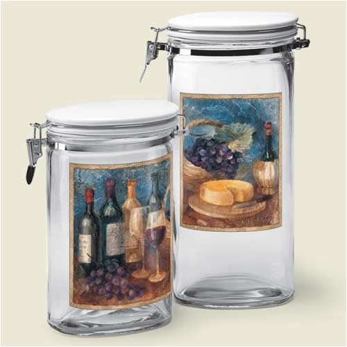 wine theme kitchen canister set home wine decor i 17 best images about tuscan style decor on pinterest