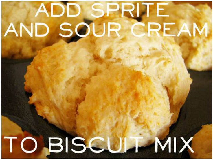 Sprite and Sour Cream Biscuits. | Dough and Batter | Pinterest