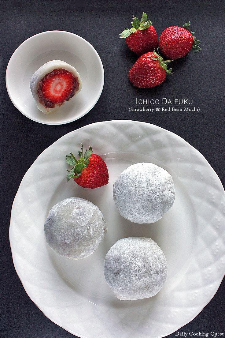 Ichigo Daifuku – Strawberry and Red Bean Mochi
