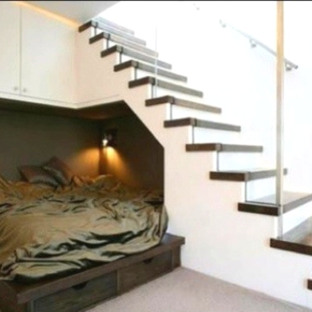 bed under the stairs for kika pinterest