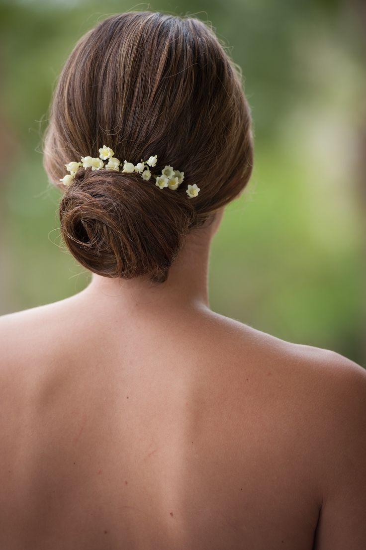 style me pretty   wedding hair   clean modern bun   bride   hairstyle