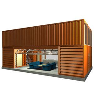 shipping container garage pictures and ideas joy studio design gallery best design. Black Bedroom Furniture Sets. Home Design Ideas