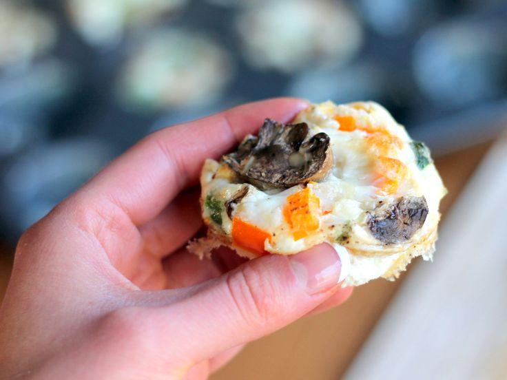 Cheesy Egg White Veggie Breakfast Muffins (low carb, gluten free) | R ...