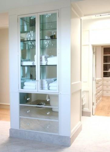 bathroom mirrored linen closet design to covet pinterest