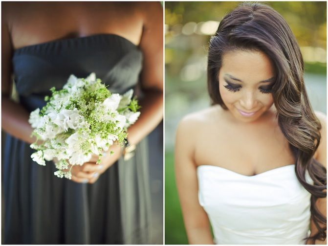 Glamourous Modern Mixed Metallics Vineyard Wedding http://su.pr/19rqmj