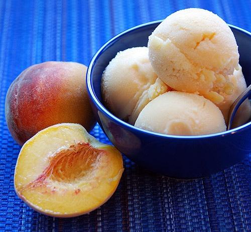 peach sorbet | edible eats & treats | Pinterest