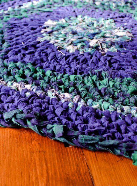 Crocheting Rag Rugs : Crochet Rag Rugs