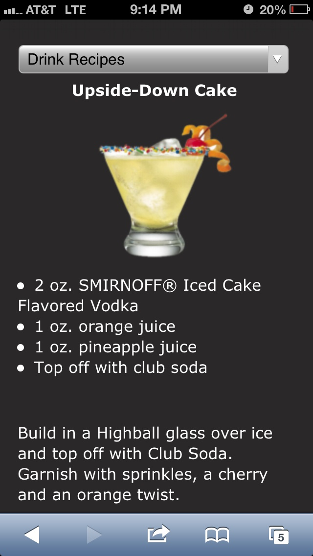 Drink recipes with smirnoff cake vodka Photo recipes