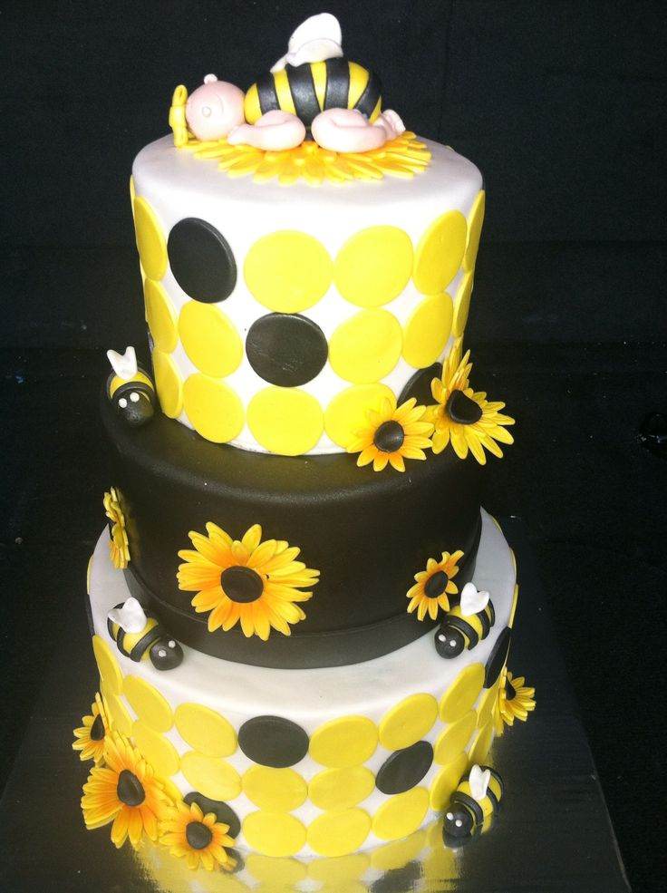 bumble bee baby shower heavenly confections decorated cakes pin