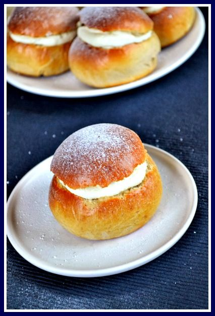 Swedish Semlor Recipe - Cardamom Sweet Rolls filled with Almond Paste ...