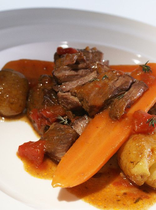 Slow-Cooked Beef with Red Wine | ༺ Slow Cooker Ideas ༻ | Pinterest