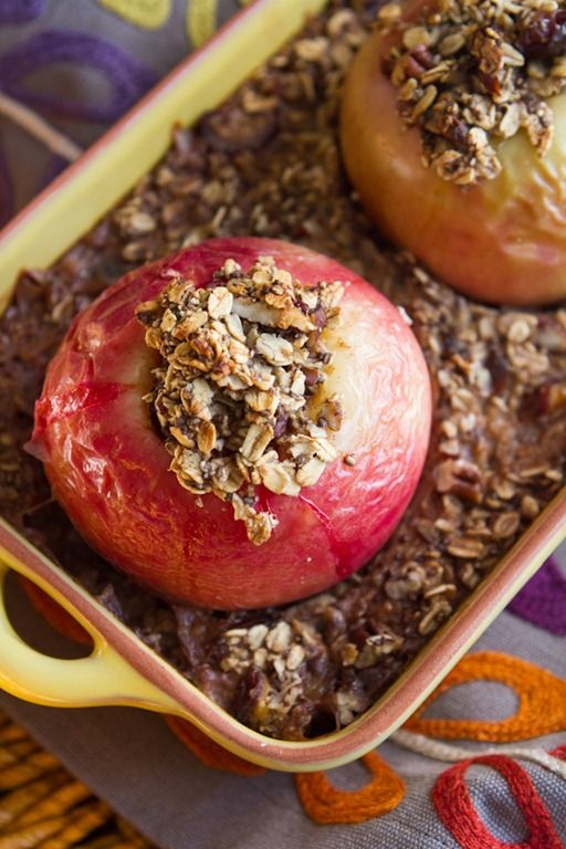 Baked Apples Stuffed with Cinnamon Date Pecan Oatmeal A delicious and ...