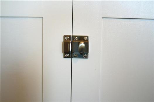 Cabinet Hardware 2pc Cupboard Latch Satin Nickel 1 3 4 10 On Ebay