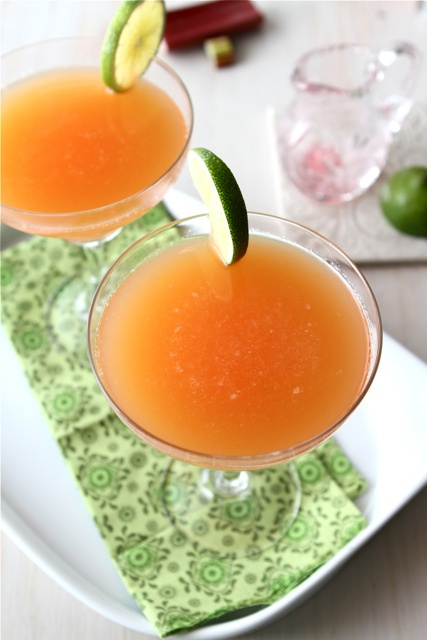 Rhubarb Margarita by CookinCanuck | It's 5 o'Clock Somewhere | Pinter...