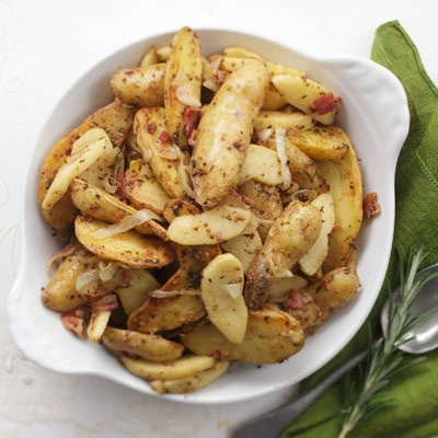 Warm Potato Salad with Bacon Mustard Dressing Recipe - Delish.com