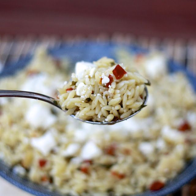Orzo Salad with Feta, Sun-dried Tomato, and Basil